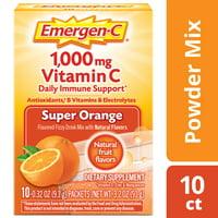 Emergen-C Vitamin C Drink Mix, Super Orange, 1000mg, 10 Ct