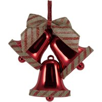 Holiday Time Red/Burlap Bells