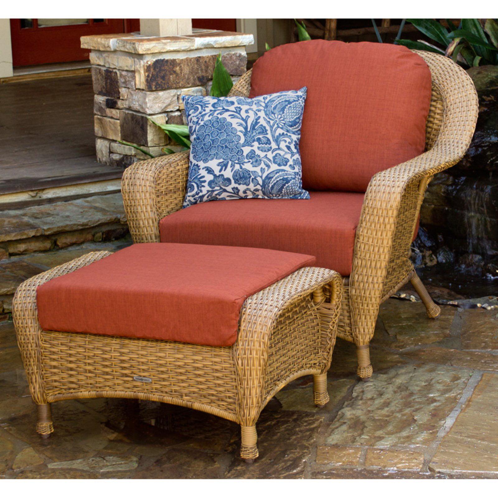 Tortuga Lexington Chair and Ottoman Set