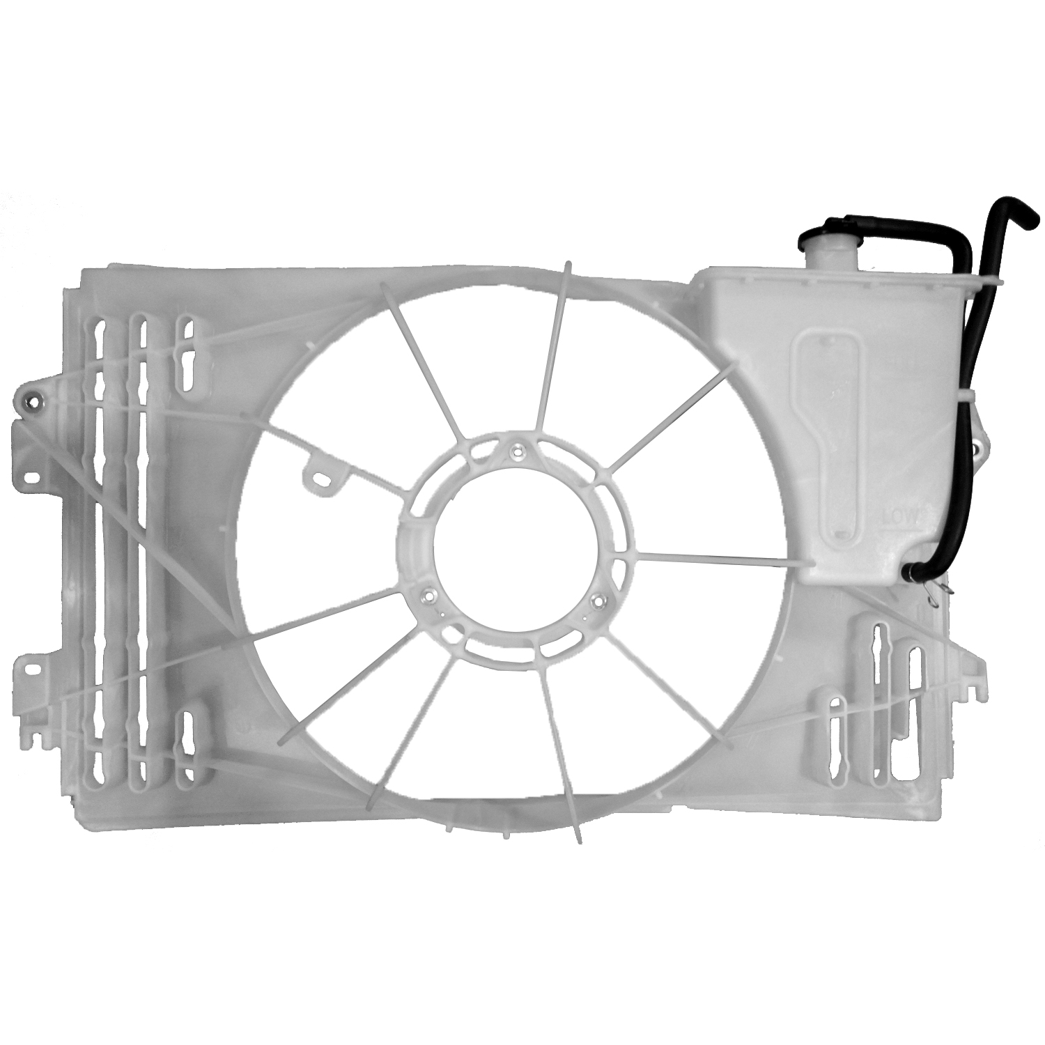 CPP Front Radiator Fan Shroud for 03-08 Toyota Corolla TO3110134