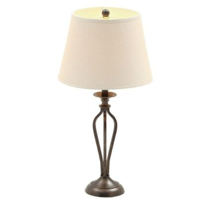 Hampton Bay, Rhodes 28 In. Bronze Table Lamp