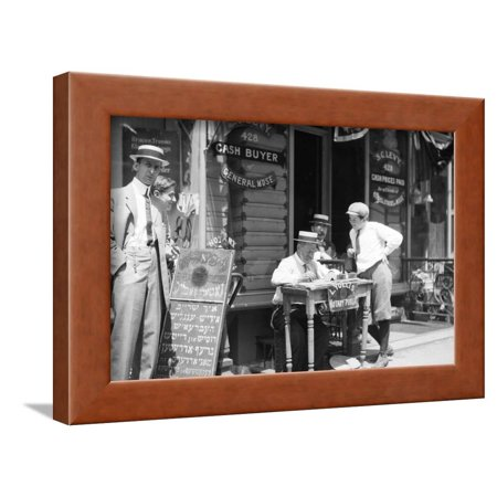 Notary Wood - Notary Public on the Street Framed Print Wall Art