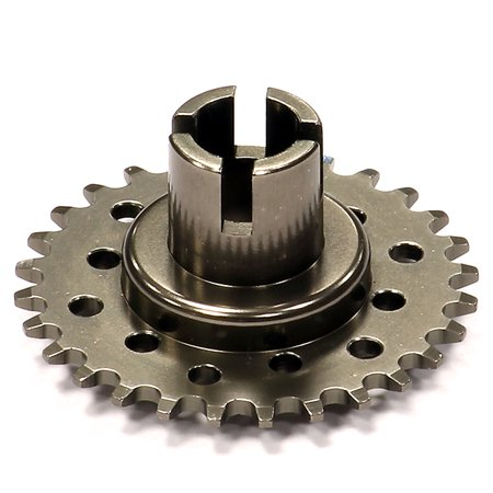 Kyosho Motorcycle (Integy RC Toy Model Hop-ups C24563GUN Billet Machined Metal Driver Gear for Kyosho 1/8)
