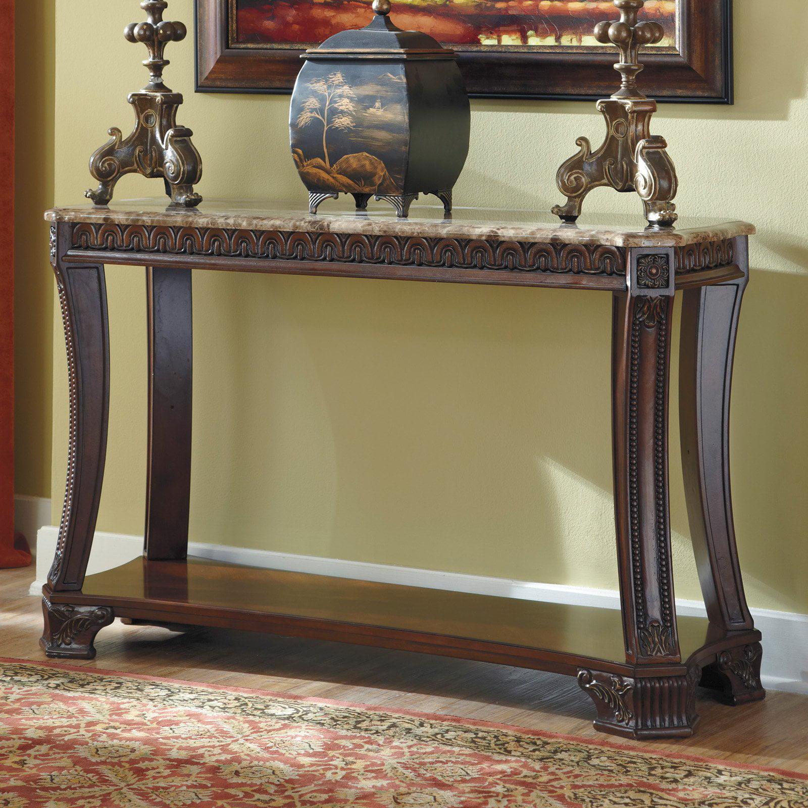 Signature Design By Ashley Ledelle Rectangular Dark Cherry Sofa Table by Ashley Furniture