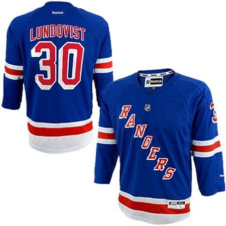 official photos e7bae 27cb6 Henrik Lundqvist New York Rangers Reebok Youth Replica Player Hockey Jersey  - Blue