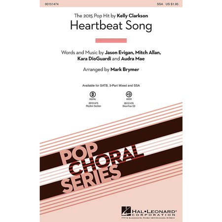 Hal Leonard Heartbeat Song SSA by Kelly Clarkson arranged by Mark Brymer](Halloween Beat Rap Song)