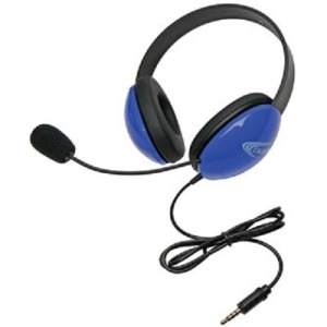 Califone Listening First Stereo Headset with To Go Plug - Stereo - Blue - Mini-phone - Wired - 32 Ohm - 20 Hz - 20 kHz