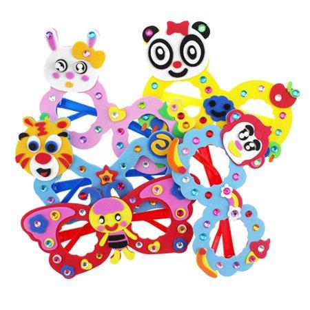 Halloween Craft For Kindergarten Party (AkoaDa 1 Children Cartoon Glasses DIY Craft Kit Creative Kindergarten Educational Toys Birthday Party Gift For Kids Children)