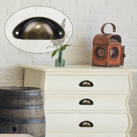 Vintage Cup Pulls - Bin Cup Pulls Cabinet Handles Vintage Bronze Tone Dresser Pull Handle for Cupboard Drawer Dresser Door 10pcs