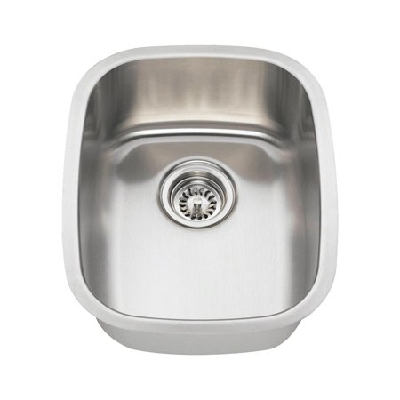 MR Direct 1815 16 Gauge Undermount Stainless Steel 18 in. Single Bowl Bar (Difference Between 16 And 18 Gauge Sinks)