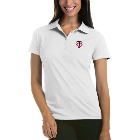 Minnesota Twins Antigua Women's Pique Xtra-Lite Polo - White