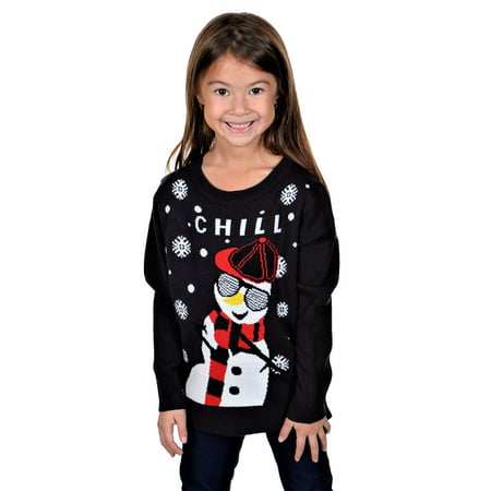 KESIS Children Chill Gangsta Snowman Ugly Christmas Sweater ()
