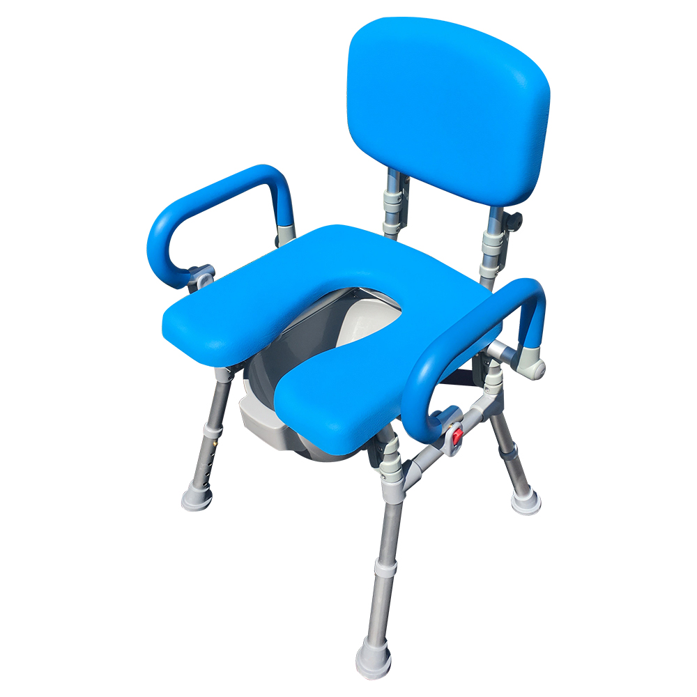 UltraCommode™ Comfortable Bedside Commode Chair / Bath Shower Chair ...