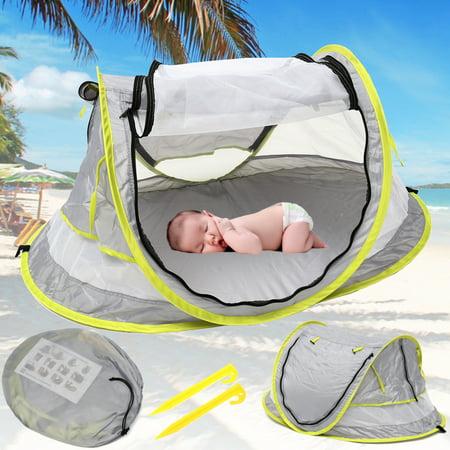 Portable Baby Beach Tent Canopy Sun Shade Shelter Anti-UV Travel Bed - (Antigua Sun)