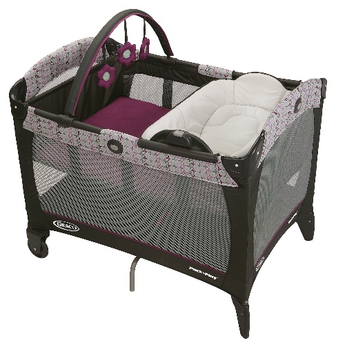 Graco Pack 'n Play Reversible Napper & Changer LX Play Pen with Bassinet, Nyssa by Graco