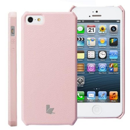 Classic Premium Leatherette Wallet Case for iPhone 5, (Pink Panther Mobile)