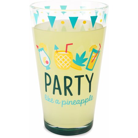 Pavilion - Party like a Pineapple - Pina Colada Summer Cocktail Themed 16 oz Pint Glass Tumbler](Theme Halloween Tumblr)
