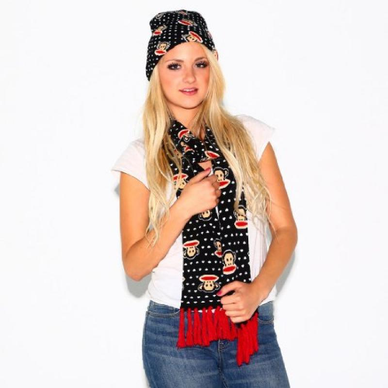 Loungefly Paul Frank Julius Monkey Black Scarf with Red a...
