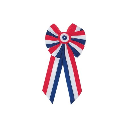 Holiday Trims 6 Loop Patriotic Red/White/Blue Bow