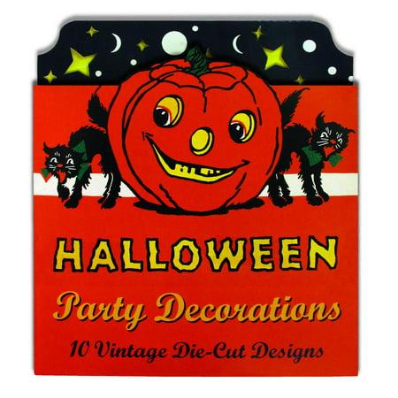 Halloween Party Decorations : 10 Vintage Die-Cut - Halloween Party Invites Diy