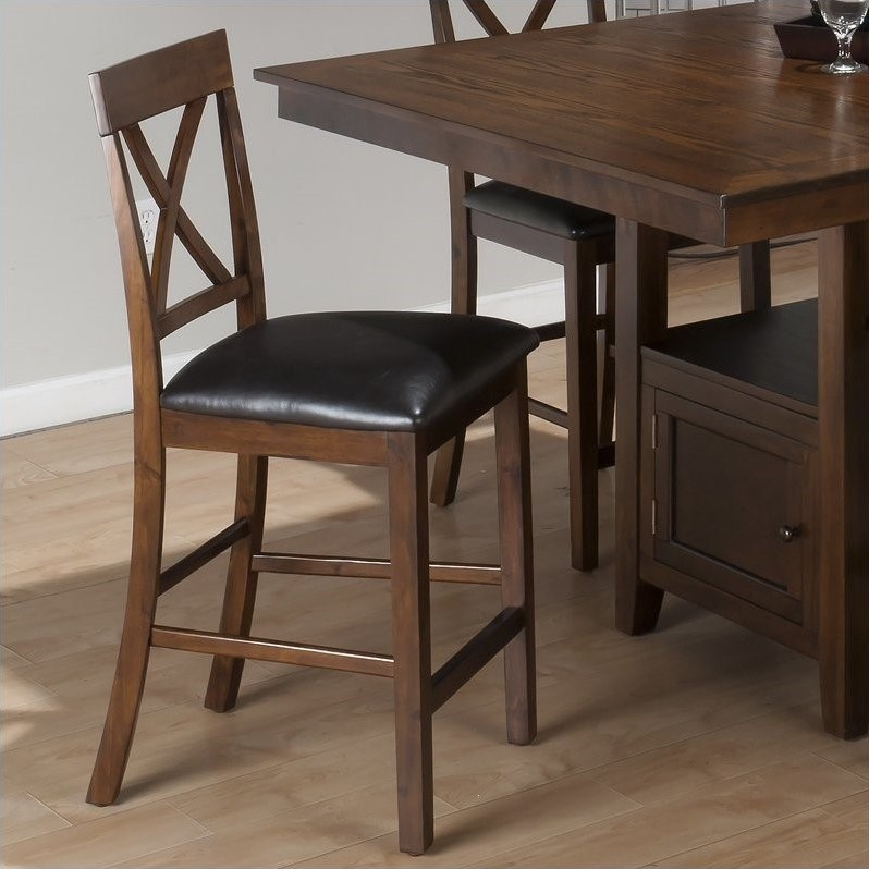 "Jofran 23.5"" Counter Stool in Olsen Oak (Set of 2) by Jofran"