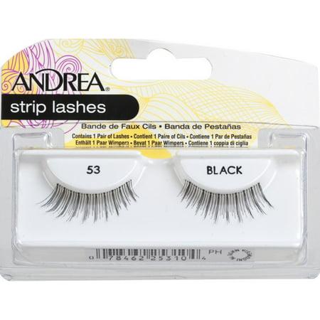 6 Pack - Andrea Eyelash Strip Lashes Black [53] 1 (Lashes 6 Pack Refills)