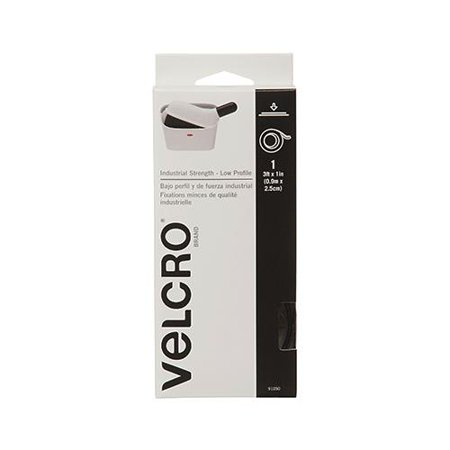 Velcro Usa Consumer Pdts 91050 Industrial Strength Fastening Tape  Low Profile  Black  3 Ft  X 1 In