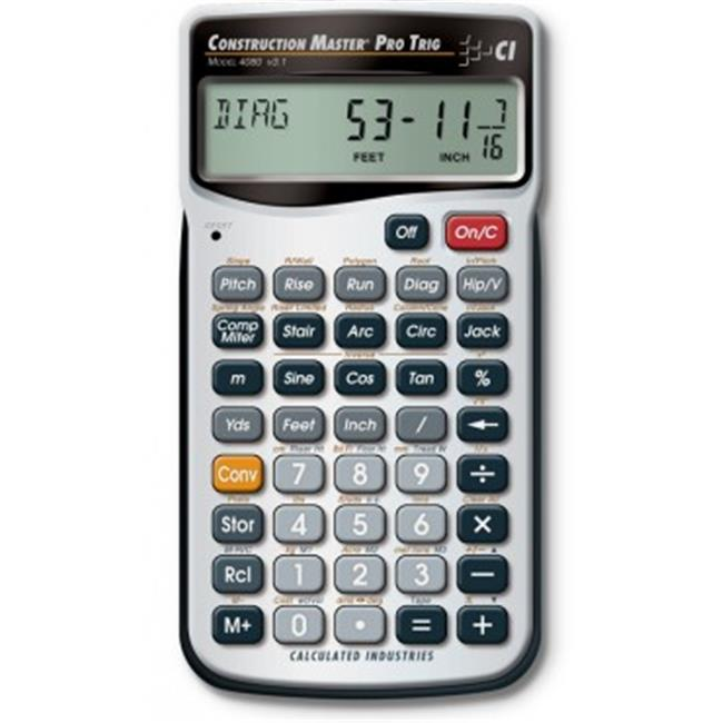 CALC INDUSTRIES CAL4080 CALC IND 4080 CONSTRUCT - MASTER PRO TRIG - image 1 of 1