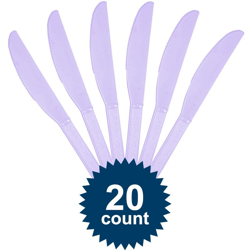 Lavender Plastic Knives - Party Supplies