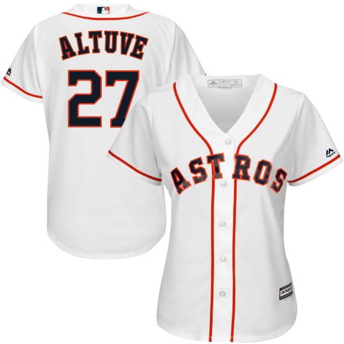 Jose Altuve Houston Astros Majestic Women's Cool Base Player Jersey - White