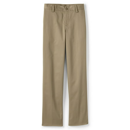 Lands' End Boys 4-20 School Uniform Iron Knees Plain-front Chino Pants