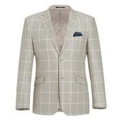 Men's Classic Fit Soft Blazer Suit Separate Jacket Summer Casual Linen Cotton Sport Coat for Men