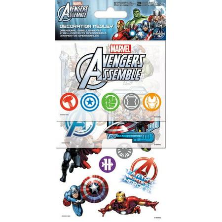 Sticker Decoration Medley - Marvel Avengers Games Toys Set Pack sc5071](Marvel Stickers)