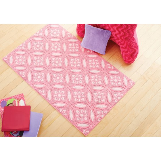 Mainstays Kids Pink Medallion Pattern Rug