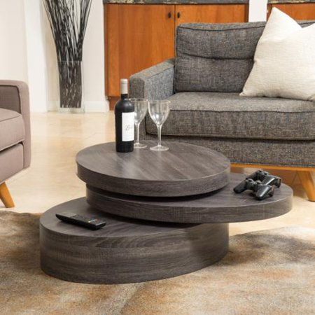 Denise Austin Home Genoa Small Oval Mod Rotatable Coffee Table