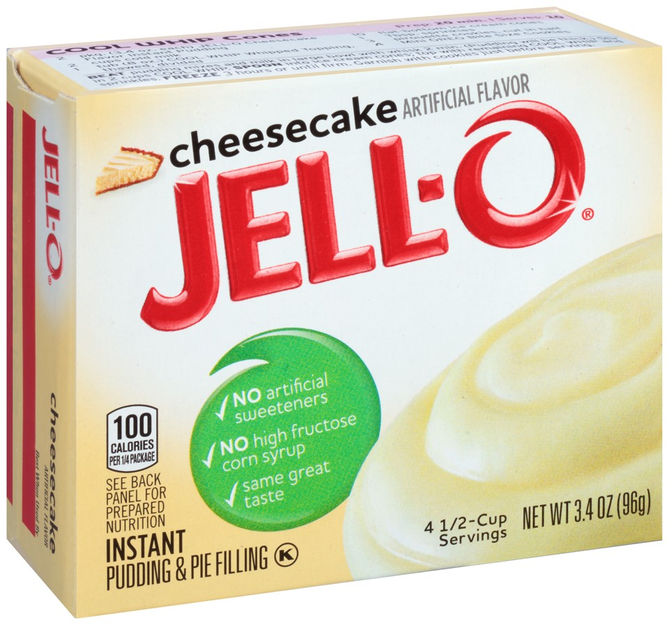 Jell-O Instant Pudding & Pie Filling Cheesecake, 3.4 Oz