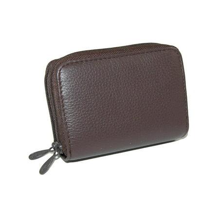 Size one sizeOne Size Women's Leather Mini Accordion Wizard Wallet (Black Buxton Wallet)