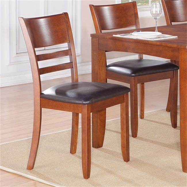 Wooden Imports Furniture LY-LC-ESP Lynfield Dining Chair with Faux Leather Upholstered Seat - Espresso