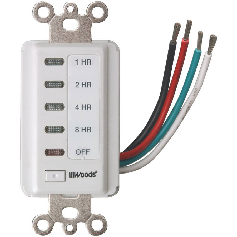 Woods 59013 Decora Style 8-4-2-1 Hour Electronic Timer, White by Coleman Cable