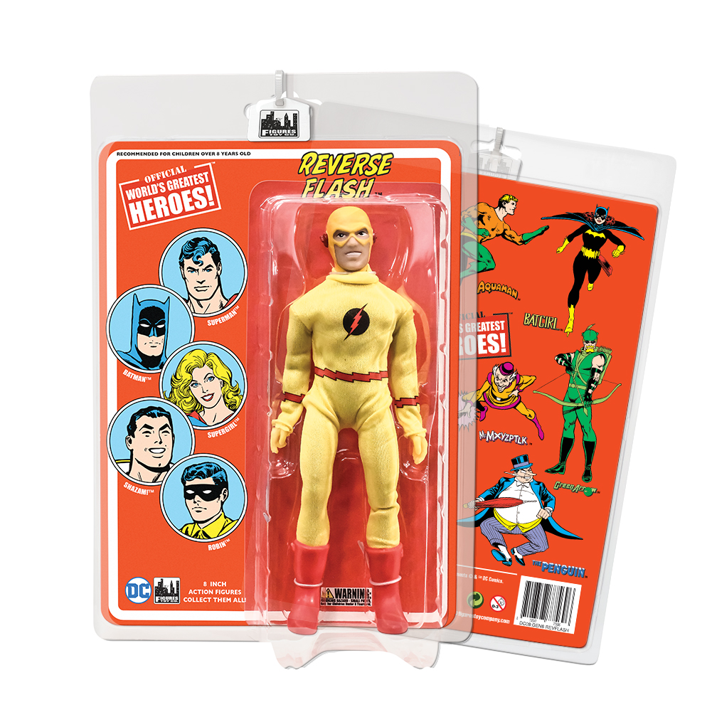 DC Comics 8 Inch Action Figures With Mego-Like Retro Cards: Reverse Flash