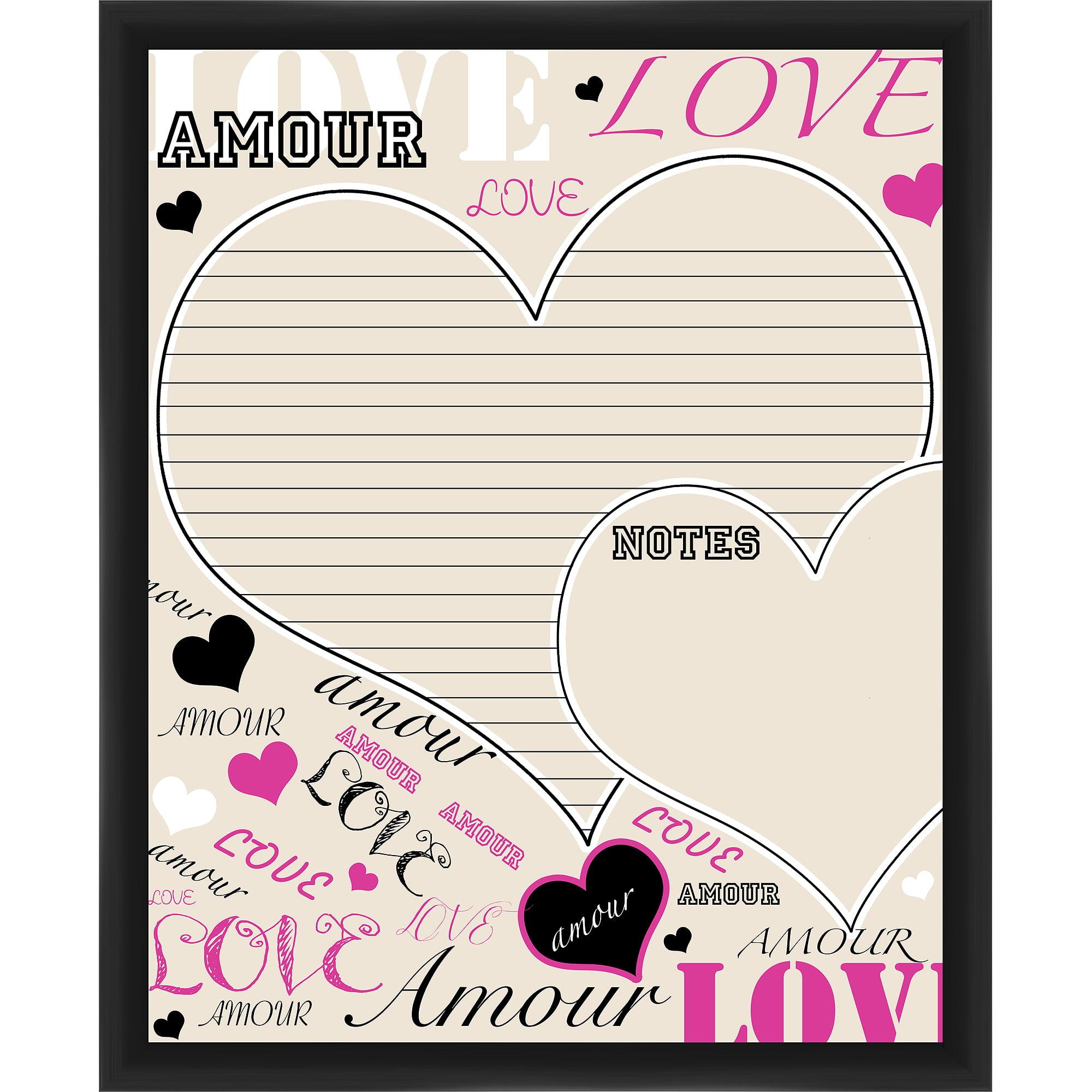 Amour Black Memoboard
