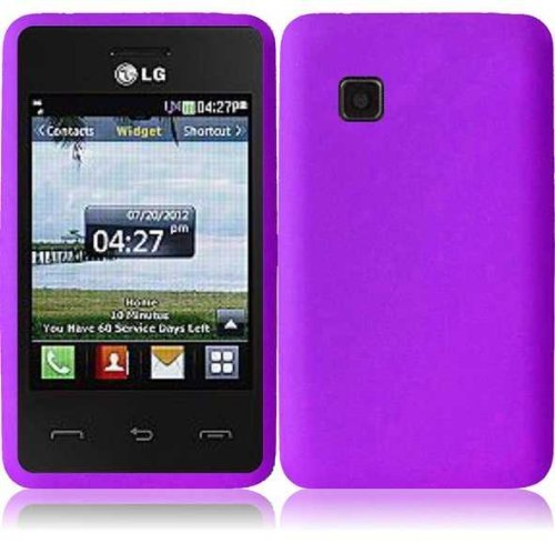 Silicone Skin Case for LG 840G - Purple