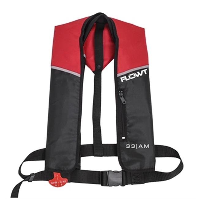 Inflatable Yoke Vest - Red/Black, 33 Gram Manual; Universal Adult
