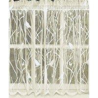 "Songbird Lace Ivory 36"" kitchen curtain Tier"