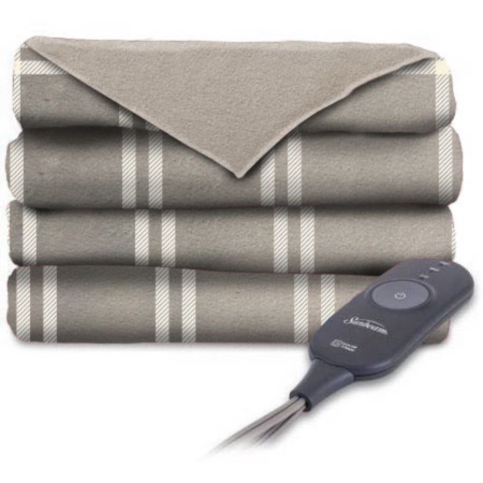 Sunbeam Electric Heated Microplush Throw Blanket, 60-Inch by 50-Inch