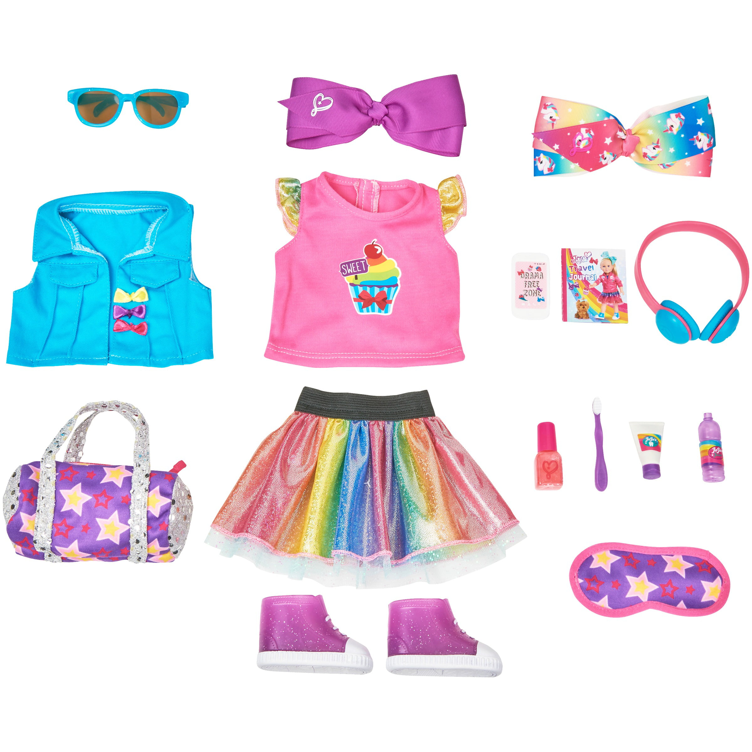 My Life As JoJo Siwa 15-Piece Travel Set, Designed for Ages 5 and Up