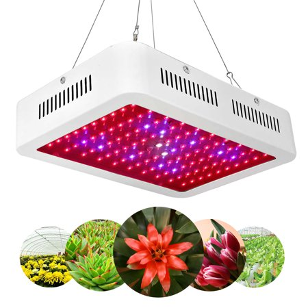 LED Grow Light, Reflector-Series 600W Full Spectrum Grow Lamp with Dual-Chip for Hydroponic Indoor Plants Vegetative and