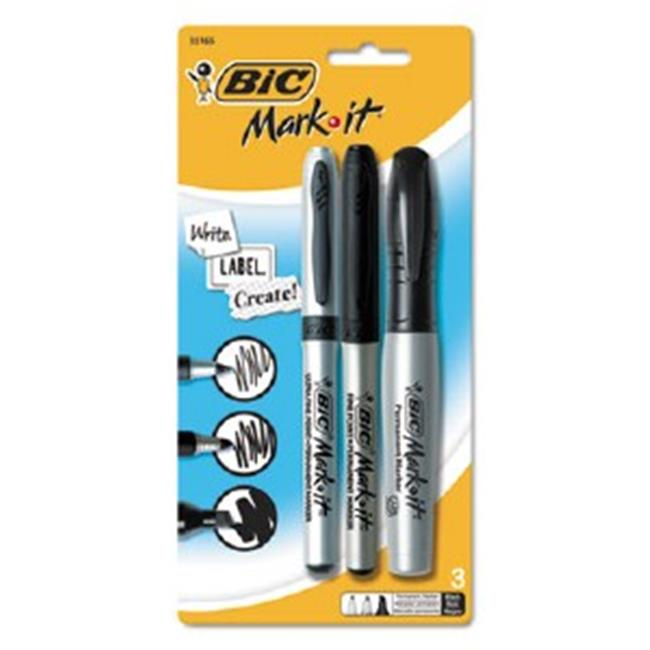 Bic Corporation GPMXP31BK Marking Multi Tip Permanent Marker - Assorted