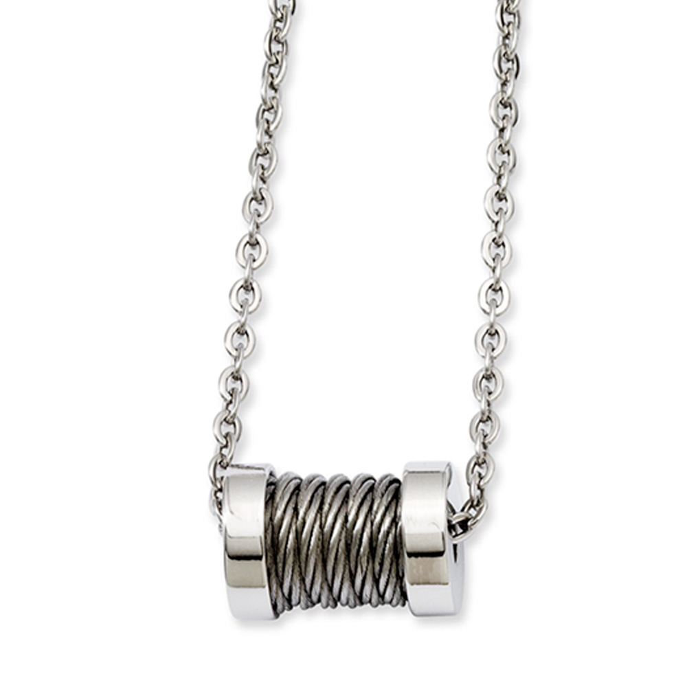 stainless steel wire barrel necklace 24 inch walmart