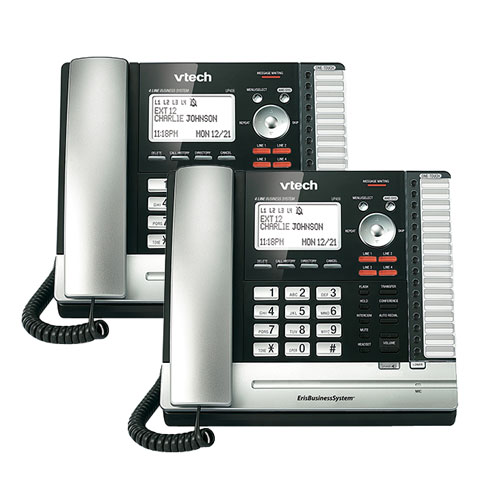 Vtech UP406(2 Pack) Expandable Corded Phone with 8 Level LCD Contrast
